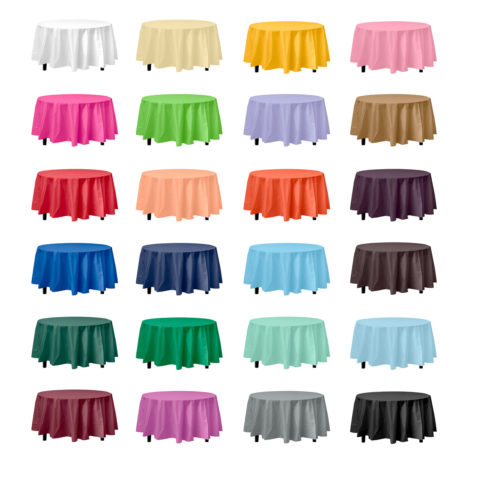 Round Plastic Table Covers With Elastic Plastic Tablecloths Cheap Table Covers Party Table Cloths