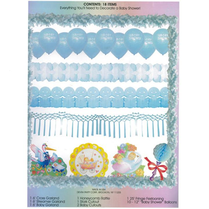 baby shower decorating kit pink and blue decorating kit for baby boy