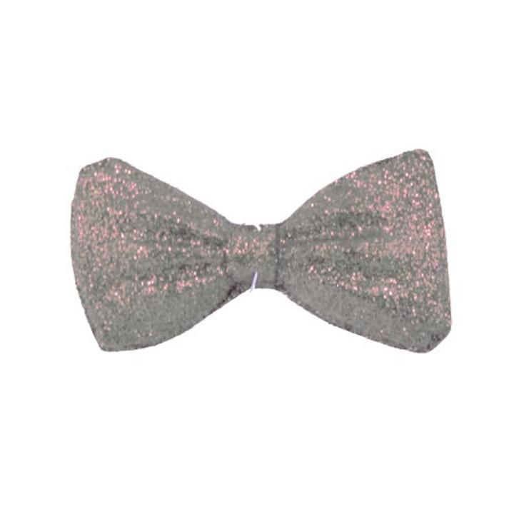 5 Quot Silver Glitter Bow Ties